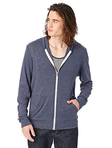 Alternative Mens Eco Zip Hoodie Sweatshirt Shirt  Eco True Navy  Large
