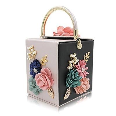 Milisente Women Clutches Flower Clutch Bag Box Clutch Purse Handbag