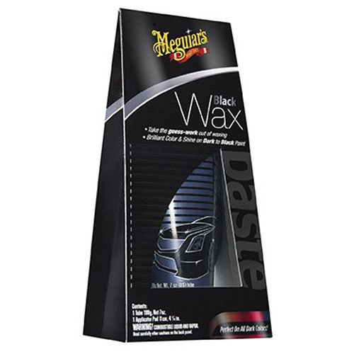 Meguiar's Black Wax – Black Car Wax Creates Deep Reflections and Gloss – G6207, 7 oz