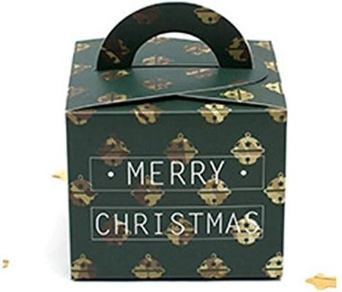 DIU Caja, Caja de Regalo, Cajas de Regalo de Fiesta, Caja de decoración 30PCS / Lot 9.5x9.5x8cm Campana de Navidad Verde: Amazon.es: Hogar