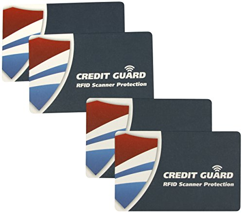 Cheap Credit Guard RFID Scanner Blocking Cards, Set of 4