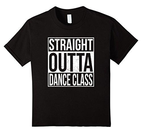 Kids STRAIGHT OUTTA DANCE CLASS T-Shirt Grunge Style 4 Black