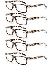 MODFANS Leesbril Mannen Vrouwen 3 Paar Lezers Comfort Lente Scharnier Vintage Stijlvolle Kwaliteit Brillen voor Lezen met Pouch