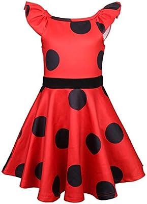 EMIN Niña Disfraz de Miraculous Ladybug Costume para Niño Cosplay ...