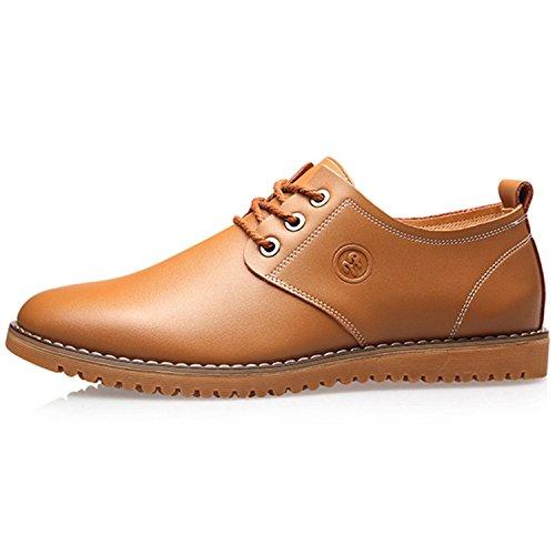 b90d140d7ee9 Spring British Genuine Leather Men Shoes Brogue Man s Shoes Fashion Men  Flat Casual Shoes Plus Size