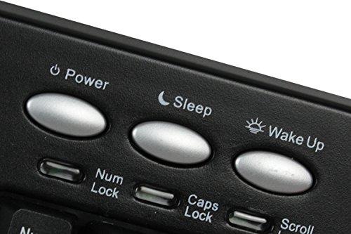 Adesso 105KEY PS2 TRU-FORM PRO ERGO TOUCHPAD KEYBOARD BLACK HOT KEYS by Adesso (Image #2)
