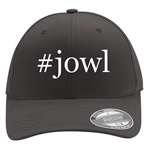 #Jowl - Men's Hashtag Flexfit Baseball Cap Hat, Dark Grey, Large/X-Large