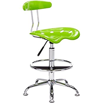 apple green furniture. flash furniture vibrant apple green and chrome drafting stool with tractor seat a
