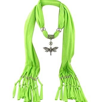 Toaimy Scraf Fashion Tassel Jewelry Scarf Alloy Dragonfly