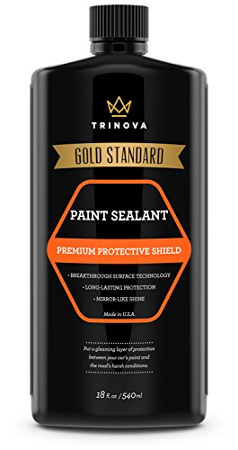 TriNova Paint Sealant for Car Long Lasting Protection and Shine. Synthetic Polymers Seal The Surface to Prevent UV Damage and Produce Deep Glossy Coat 18oz