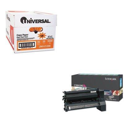 KITLEXC780H1MGUNV21200 - Value Kit - Lexmark C780H1MG High-Yield Toner (LEXC780H1MG) and Universal Copy Paper (UNV21200) -