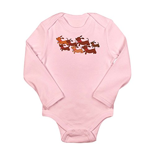 CafePress - Running Weiner Dogs.png Long Sleeve Infant Bodysui - Cute Long Sleeve Infant Bodysuit Baby - Running Kids Png