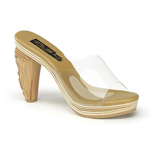 Pin Up Couture - Sandalias de vestir para mujer transparente transparente