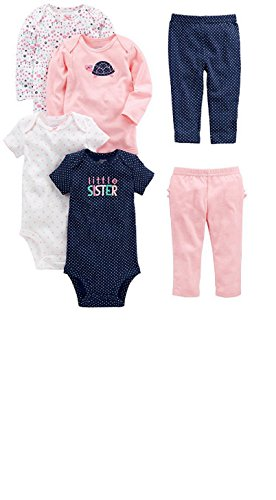 Carters Super Comfy 3 Piece (Carter's Baby Girls 4 Pack Long Sleeve Polka Dot Bodysuits 3-24 months (18 months))