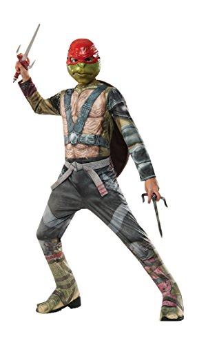 [Rubie's Costume Kids Teenage Mutant Ninja Turtles 2 Value Raphael Costume, Small] (Halloween Costumes For The Family)