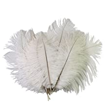 RHX Wedding DIY Crafts Decorations 10pcs 68 inch White Ostrich Feathers 15 20cm