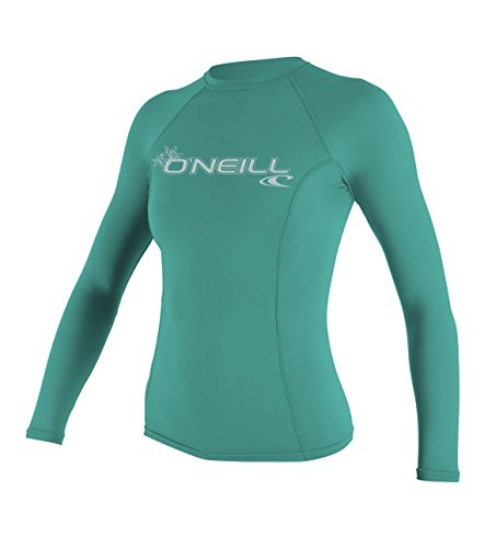 O'Neill UV Sun Protection Women's Basic Skins Long Sleeve Crew Rashguard, Riviera, Small
