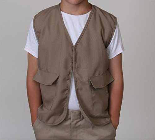 Kids Unisex Polyester Khaki Safari Explorer Vest - http://coolthings.us