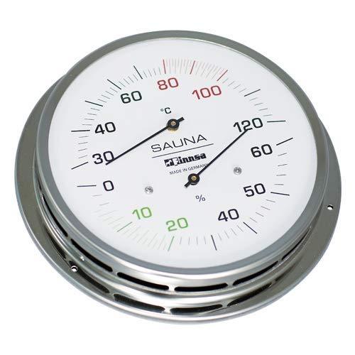 Finnsa Sauna Hygredherm 130 mm Anschraubflansch Hygrometer Thermometer 4145-F