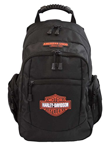 Harley-Davidson Men's Classic Bar & Shield Backpack, Black BP1932S-Orange