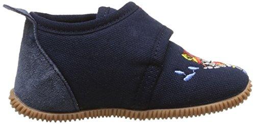 Giesswein Serfaus - Slim Fit - Zapatillas de estar por casa de lana para niño Azul (Dk.blau)
