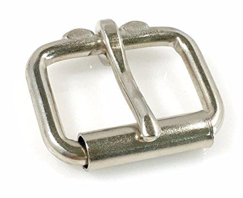 Nickel Buckle - Dangerous Threads Heavy Duty Roller Buckle - Nickel Finish - Various Sizes (2 Pieces, Nickel - 1 & 1/4