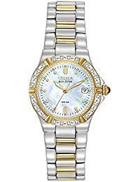 Women's EW0894-57D Eco-Drive Riva Diamond-Accented Watch