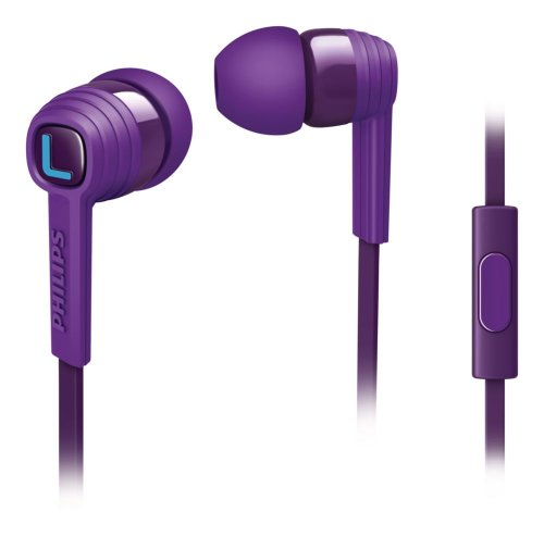 Philips SHE7055PP/00 CitiScape Indies Collection In Ear Headphones with Mic - Purple