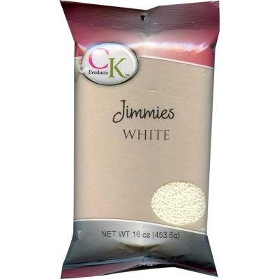 CK Products White Jimmies/Sprinkles Decorations 1lb. Bag for $<!--$10.99-->