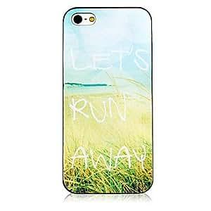TY- patrón wheatland marco negro trasera para el iPhone 4 / 4s