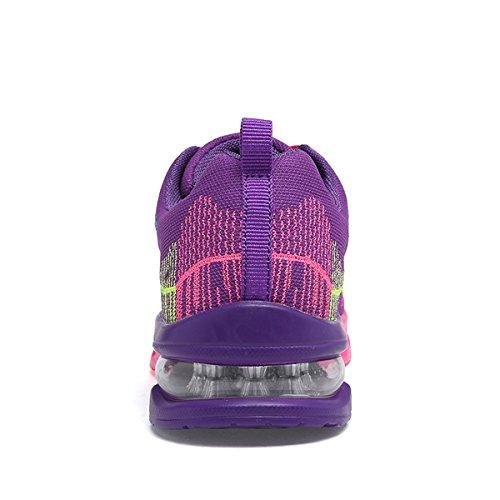 Jarlif Femmes Athlétique Running Sneakers Mode Sport Air Fitness Entraînement Gym Jogging Chaussures De Marche Us5.5-10 Violet
