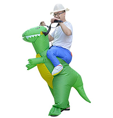 Blow Up Costumes Animal (Garma Inflatable Dinosaur Suits Halloween Costume Piggyback Blow Up Animal T-REX Adult Party)