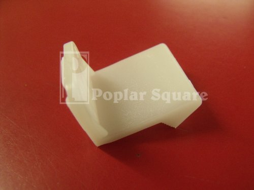 4 White Plastic False Front Clips #1987WH - White Poplar Cabinet