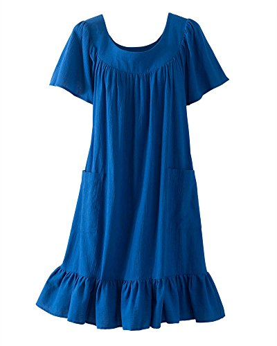 National Crinkle Cotton Dress, Blueberry, - Cotton Crinkle Pull