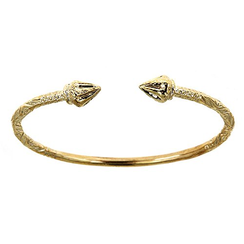 10K Yellow Gold West Indian Bangle w. Arrow Ends 32.0 Grams (MADE IN USA)