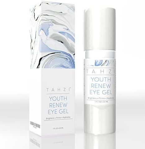 TAHZI Eye Cream Gel, Anti Aging for Dark Circles, Increases Skin Elasticity, Fruit Extracts High in Antioxidants, No Parabens, Cruelty Free, 30ml Bottle