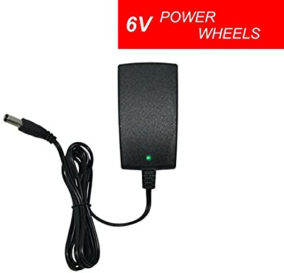 6V Kids Power Wheels Universal Charger Hello Kitty SUV Mercedes-Benz Audi Range Rove BMW I8 Children Electric Ride On Toy RC Car Battery Supply by Power Adaptor with Charging Indicator Light