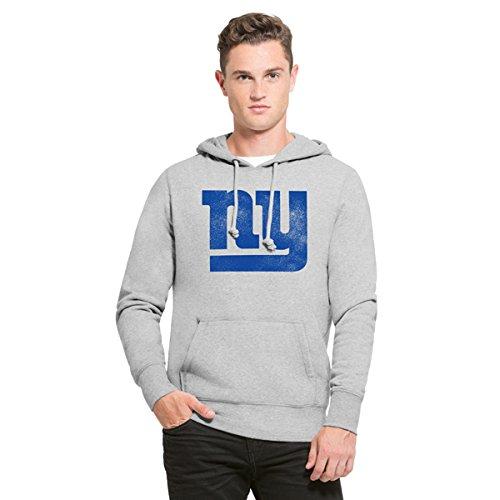 NFL New York Giants Men's '47 Knockaround Headline Pullover Hoodie, Medium, Slate (New York Giants Hoodie)