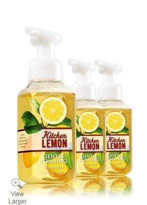 (Bath & Body Works Gentle Foaming Hand Soap Kitchen Lemon (3-Pack))