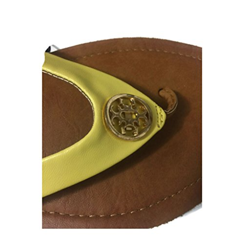 CALL IT SPRING Call It Spring Astiacia Flat Sandals, Yellow, Womens US Size 11