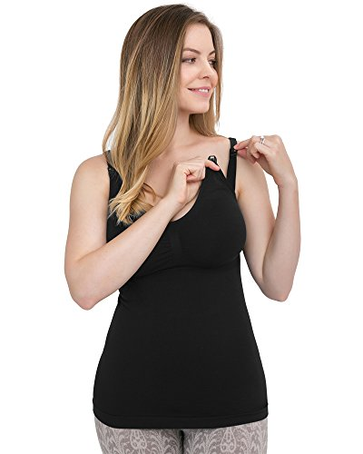 35a77b85de1 1 10. Prime Service. S  87.29. Kindred Bravely Simply Sublime Maternity   Nursing  Tank With Built-In Bra (Black ...