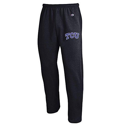Elite Fan Shop TCU Horned Frogs Sweatpants Pockets Black - XXL -
