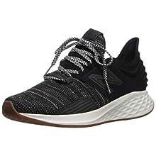 New Balance Women's Roav V1 Fresh Foam Running Shoe, BLACK/SEA SALT, 8.5 M US