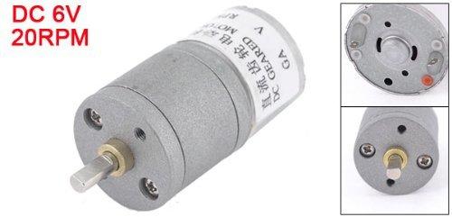 eDealMax 6VCC 20RPM Vitesse de sortie permanente Magnétisme électrique Motoréducteur