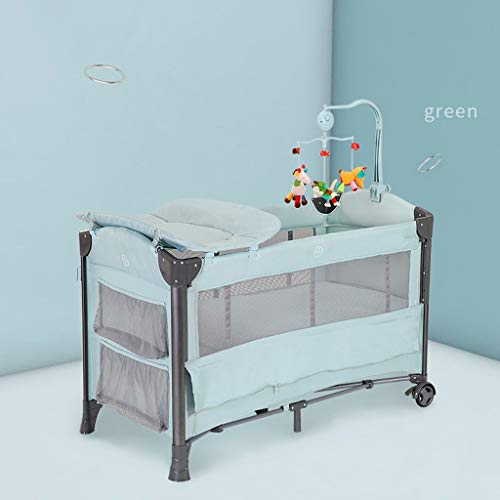 Crib Newborn Folding Cradle Bed Changing Table Baby Bassinet Appease Rocking Chair Nursery Centers w/Travel Storage Bag…