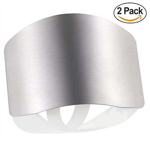 2X Finger Guard For Cutting, Unbreakable Stainless Steel Safe Slice Knife Guard Slicing Cutting Protector | Finger Hand Protector Guard