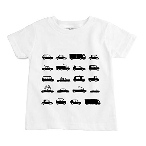 - The Spunky Stork Car Chart Organic Cotton Toddler T Shirt (3T) White