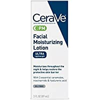 CeraVe Facial Moisturizing Lotion PM Ultra Lightweight 3 oz (Packs of 2)