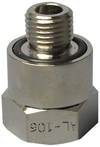 EZ (AL-106) Silver 14mm-1.5 Thread Size Oil Drain Valve Adapter EZ Oil Drain Valve
