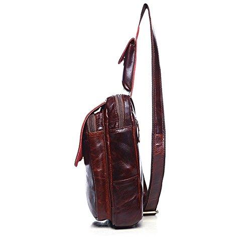 cuir Sacs poitrine bandoulière épaule bandoulière main Sacs Body sac randonnée à voyage à pour à bandoulière sac véritable en pour Sac à Sac les Cross Rouge école dos à en à usages dos femmes hommes multi PIqzwqE